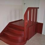 Restaurierte Treppe