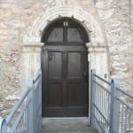 Restaurierte Eingangstür