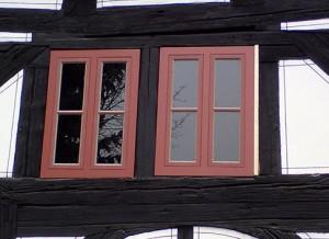Kastenfenster in Eiche